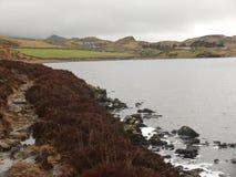 Lac dans les montagnes, snowdonia, Pays de Galles, R-U Photo libre de droits