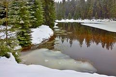Lac dans les montagnes tchèques photo libre de droits