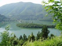 Lac dans Rodopi, Bulgarie Images libres de droits