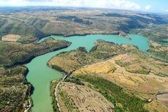 Lac de barrage en Sicile Photos libres de droits