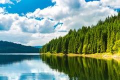 Lac de barrage de Vidra Photographie stock libre de droits