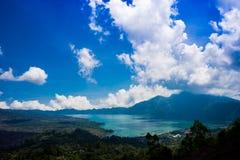Lac de Batur Photos stock