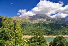 Lac de bubale dans les Pyrénées Photo stock