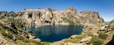 Lac de Capitello at head of Restonica valley near Corte in Corsica Stock Images
