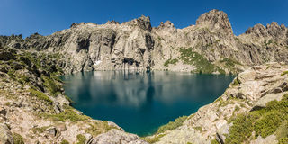 Lac de Capitello nahe Corte in Korsika Stockfoto
