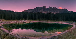 Lac de carezza Photographie stock