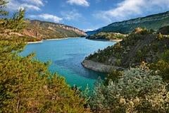 Lac de Castillon, Провансаль, Франция: Ландшафт природного парка Verdon стоковые фото