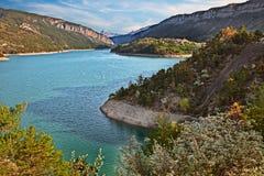 Lac de Castillon, Провансаль, Франция: Ландшафт природного парка Verdon стоковая фотография rf