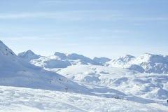 Lac de château de route de neige de moritz de saint de Julierpass Photographie stock libre de droits