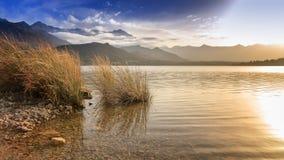 Lac de Codole, долина Reginu в Корсике Стоковое Фото