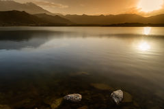 Lac de Codole, Reginu-Tal in Korsika Lizenzfreie Stockfotos