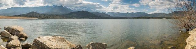 Lac De Codole w Balagne regionie Corsica Zdjęcie Royalty Free