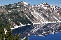 lac de cratère Image libre de droits