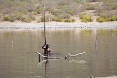 Lac Ethiopie de cratère de gazon d'EL Photographie stock libre de droits