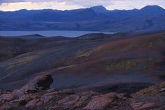 lac de désert volcanique Image stock