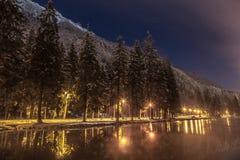 lac De Gailand,夏慕尼勃朗峰,法国 免版税库存图片
