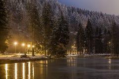 lac De Gailand,夏慕尼勃朗峰,法国 库存图片