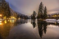 lac De Gailand,夏慕尼勃朗峰,法国 免版税图库摄影