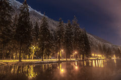 Lac De Gailand, Chamonix-Mont-Blanc Mont Blanc, Francia Immagine Stock Libera da Diritti