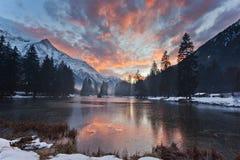 Lac de Gailland Image stock