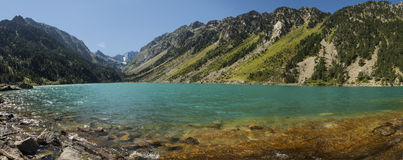 Lac de Gaube Pano Royalty Free Stock Images