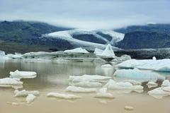 Lac de glacier de Fjallsarlon, Islande Photos libres de droits