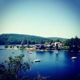 Lac De Guerledan, Francia Fotografía de archivo libre de regalías