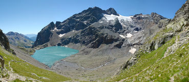 Lac de L`Eychauda. Is a beautiful lake in Hautes-Alpes, France Royalty Free Stock Photo