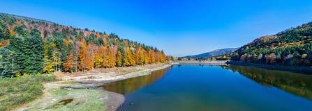 Lac de la Lauch,孚日省山的一个湖-上莱茵省,法国 免版税库存照片