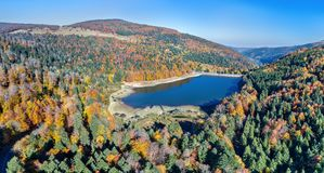 Lac de la Lauch, a lake in the Vosges mountains - Haut-Rhin, France. Lac de la Lauch, a lake in the Vosges mountains - Alsace, France Royalty Free Stock Photo