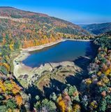 Lac de la Lauch, a lake in the Vosges mountains - Haut-Rhin, France. Lac de la Lauch, a lake in the Vosges mountains - Alsace, France Stock Photo