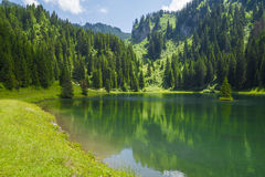Lac de la Mouille, lake in Haute-Savoie region ,France. Stock Photography