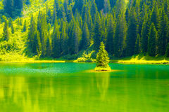 Lac de la Mouille, lake in Haute-Savoie region ,France. Royalty Free Stock Image