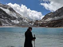 Lac de lait de perle dans Yading photo stock