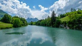 Lac de Lessoc, Fribourg, Швейцария стоковая фотография