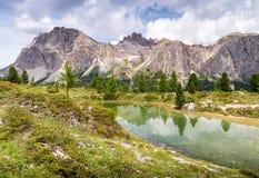 Lac de Limides - dolomites italiennes Photographie stock
