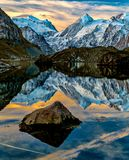 Lac de Louvie Swiss阿尔卑斯 免版税图库摄影