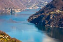 Lac de Lugano Photo stock