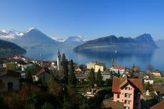 Lac de Luzerne Images libres de droits