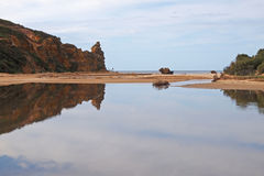 Lac de marée à l'admission Victoria d'Aireys Images libres de droits