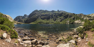 Lac de Melo above Restonica valley in Corsica Stock Photography