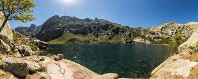Lac de Melo above Restonica valley in Corsica Stock Photos
