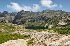 Lac de Melo above Restonica valley in Corsica Stock Image