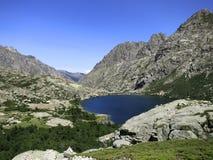 Lac de Melu sulla Corsica Immagini Stock