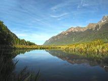 LAC DE MIROIR, NOUVELLE-ZÉLANDE Photo libre de droits