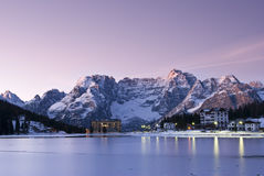 Lac de Misurina Photo stock