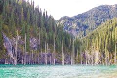 Lac de montagne de Kolsay dans Kazakhstan photographie stock libre de droits