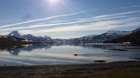 Lac de montagne de Laponian Photographie stock libre de droits