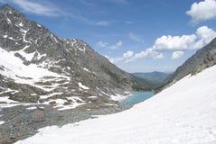 Lac de montagne de Kuiguk, République d'Altai Images libres de droits