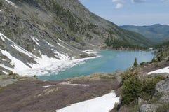 Lac de montagne de Kuiguk, République d'Altai Image stock